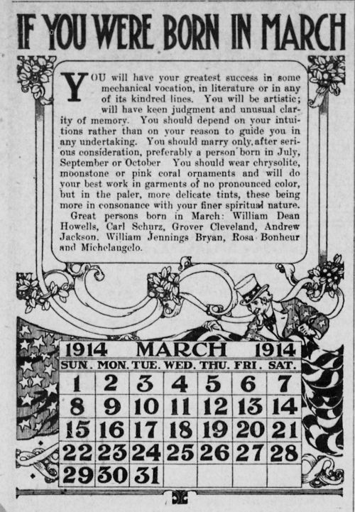 ~ The Southern Illinois Record, March 5, 1914via Illinois Digital Archive
