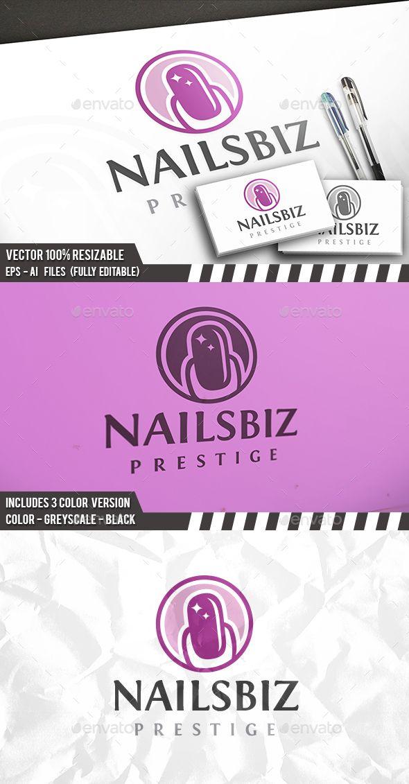 Nails Logo - Humans Logo Templates Download here : http://graphicriver.net/item/nails-logo/15724252?s_rank=184&ref=Al-fatih