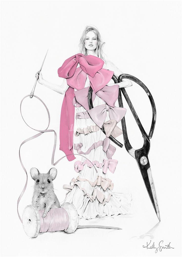 Келли Смит - Мода, красота, карандаш и графический дизайн Illustrator