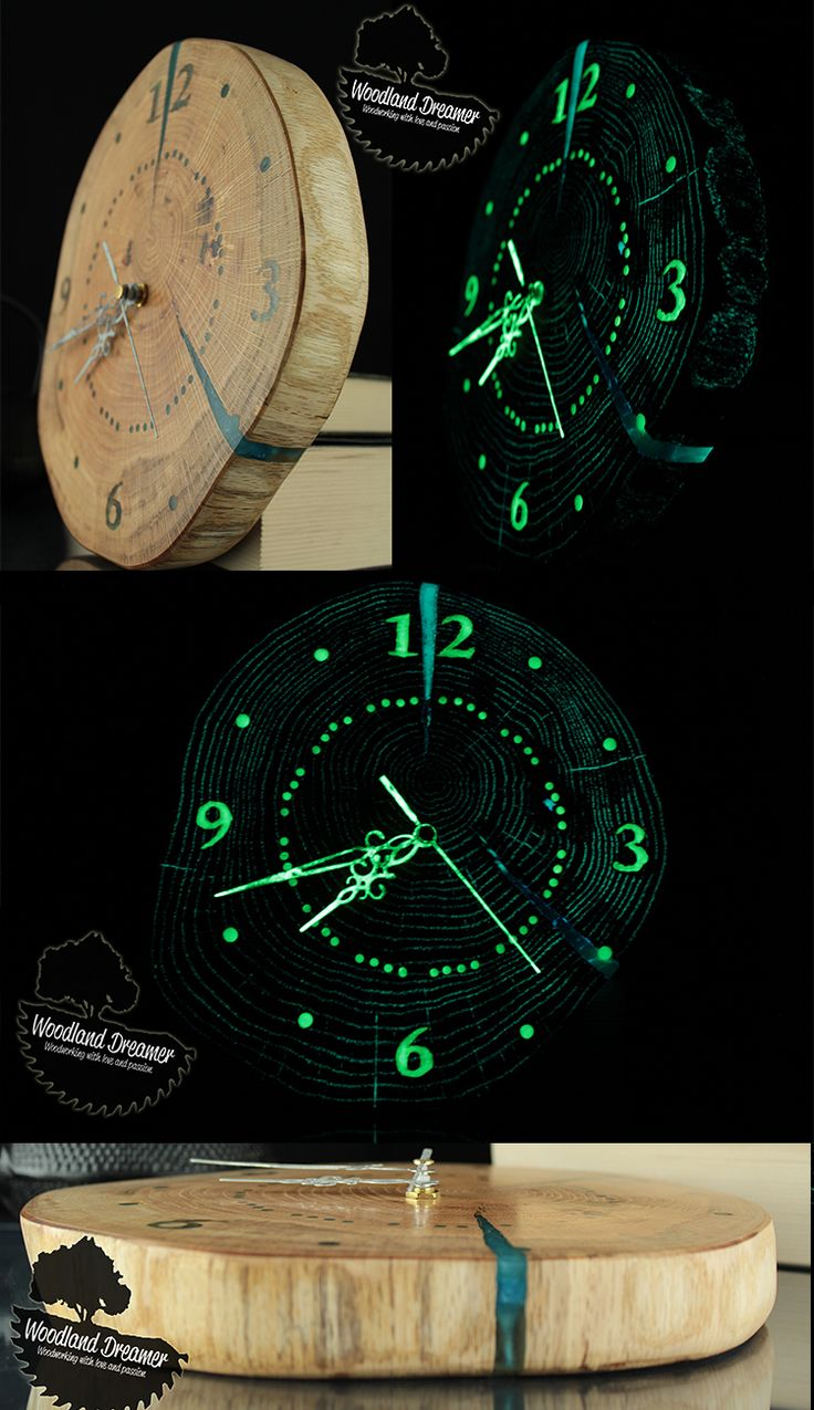 46 best woodland dreamer woodworking guitar table live edge wooden clock from slice of wood glow in the dark resin amipublicfo Images