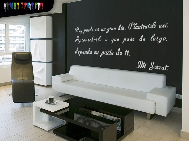 pon letra a tus paredes con vinilo decorativo