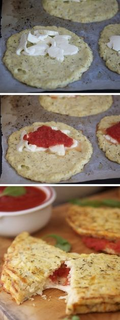 Cauliflower Crust Calzone. -Looks yummy a must.                                                                                                                                                                                 More