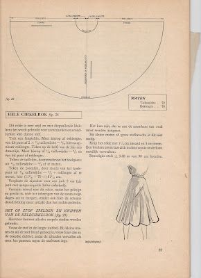 Sewing ♥ Vintage ♥ Knitting: Free Vintage Pattern: Draft your own full circle skirt and some sewing tips!