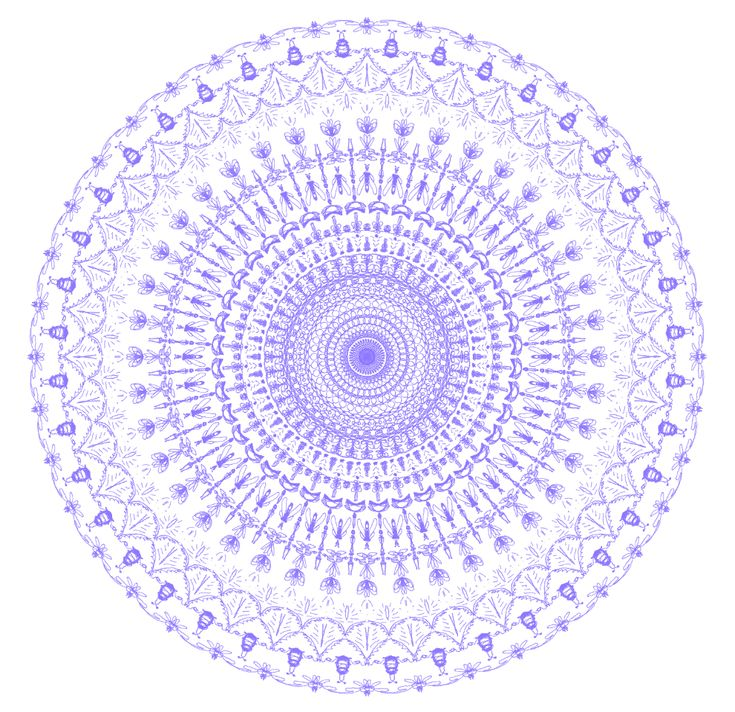 Little Bugs Mandalas An artist from Bahia Blanca in Argentina submitted several cool mandalas including tiny bugs in the design. This one was created in 88 pen strokes on https://mandalagaba.com