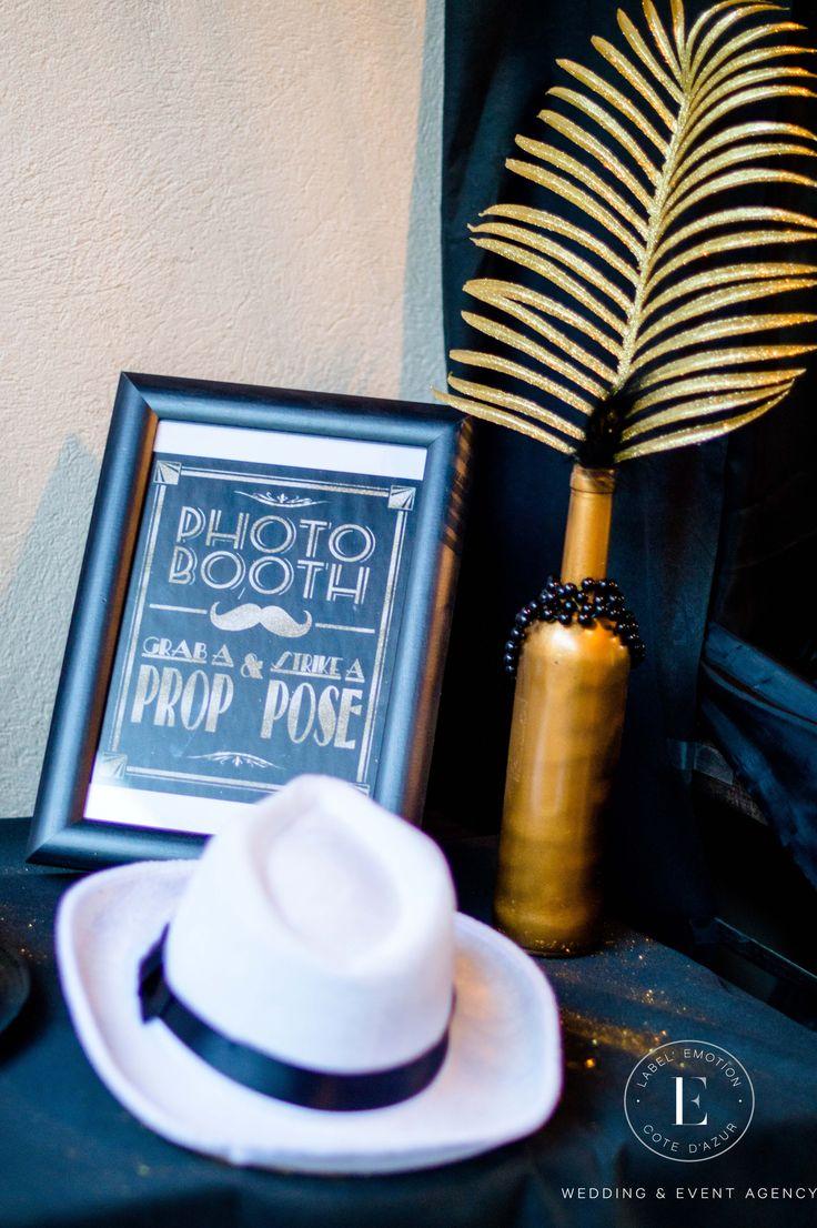 Détails d'une décoration pour votre mariage sur le thème des années folles (1920) Gatsby.