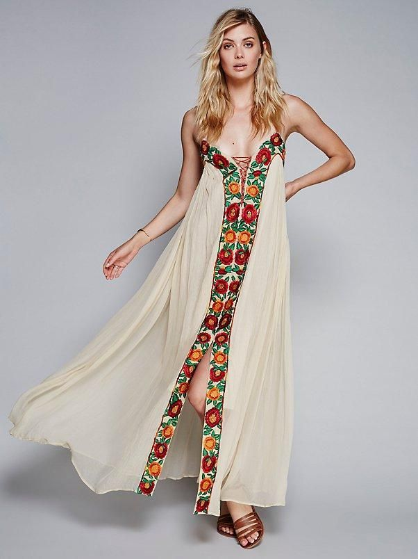 1650574d2d10 Lace-up Floral Embroidered Tent Dress - Ragazza   Co.