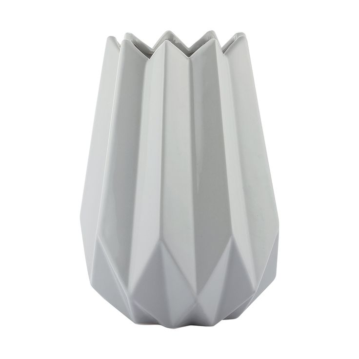 Ribbed Grey Vase | Kmart