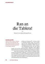 Ran an die Tablets!, Die Politische Meinung, Publikationen, Konrad-Adenauer-Stiftung