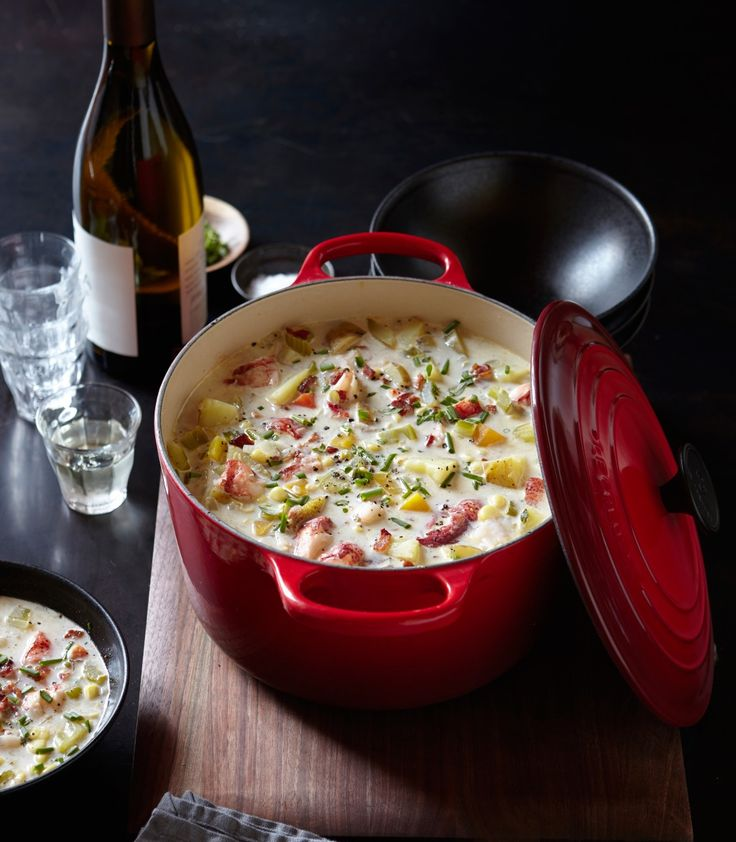 Lobster and Corn Chowder | Prepare this hearty chowder at the height of summer, when lobster and fresh corn are at their seasonal best.