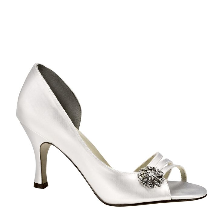 Sharmain d'Orsay Open Toe Pump in Dyeable White for the mother of the  bride. Bride ShoesWedding ...
