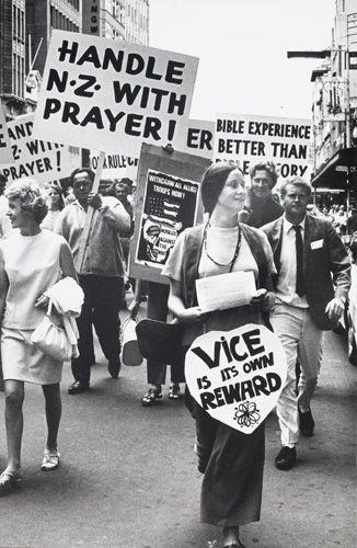 Pentecostal March 'Vice is its own reward' 1972 by Marti Friedlander