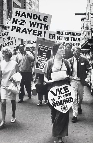 Pentecostal March 'Vice is its own reward' 1972 by Marti Friedlander