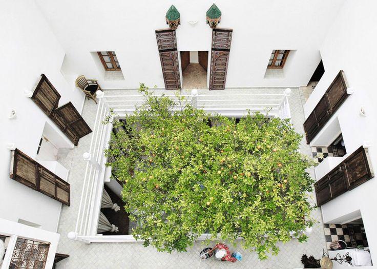 Great view of Hotel Du Tresor Courtyard Morocco