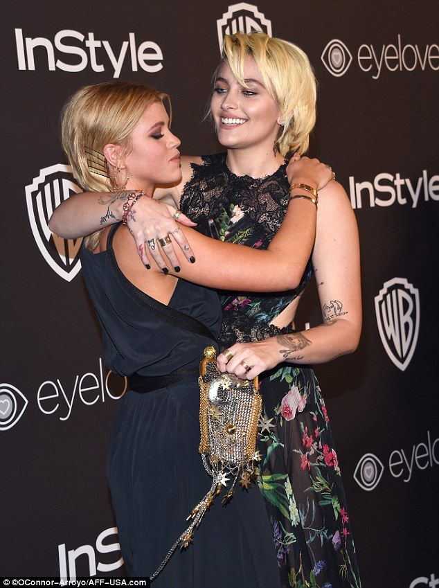 Reunited: Sunday, 18-year-olds Paris Jackson and Sofia Richie reunited at the Warner Bros. Pictures and InStyle post-Golden Globe party in Beverly Hills