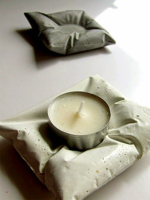 Make this concrete candle holder!