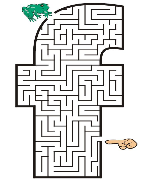 coloring pages mazes letter - photo#16