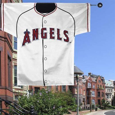 Los Angeles Angels of Anaheim 34'' x 30'' White Double-Sided Jersey Flag