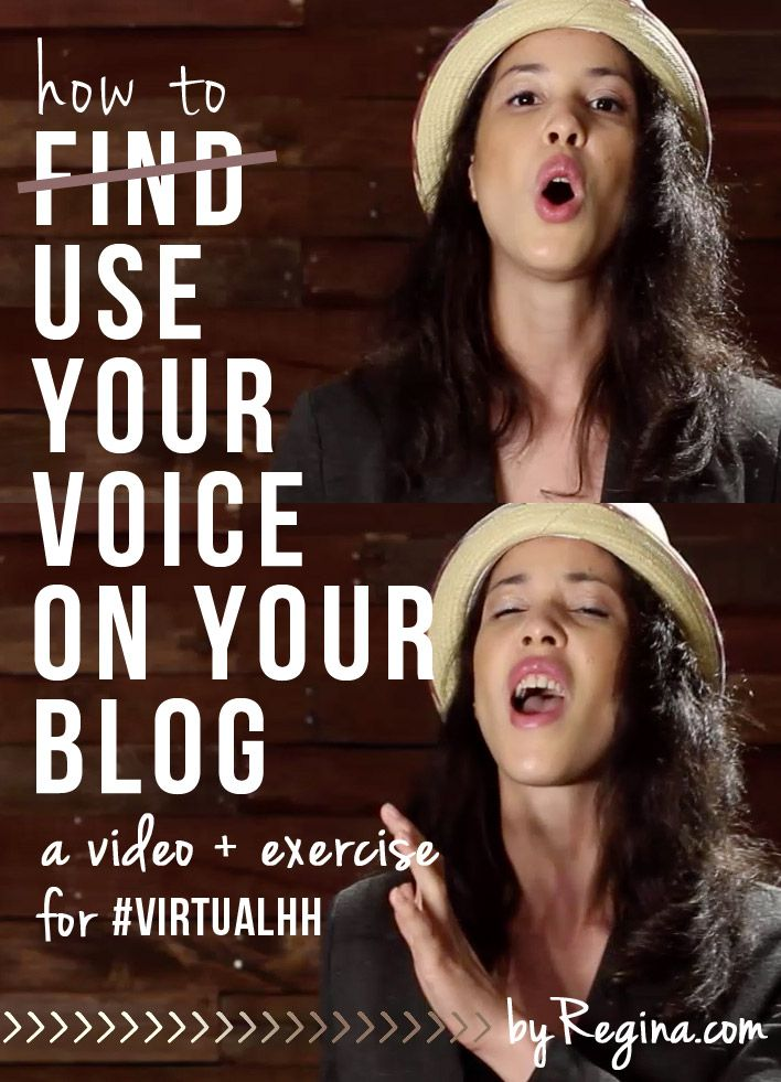 A free PDF exercise and a virtual happy hour video on How to Use Your Voice on Your Blog - Part of the new #VituallHH series.