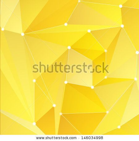 Abstract yellow triangle shapes background