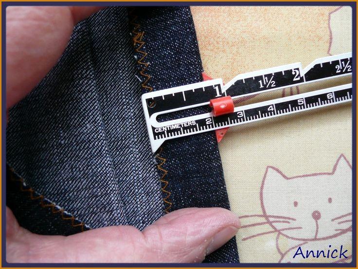 Tuto pour faire un ourlet de jean sans casser l'aiguille de la machine à coudre.