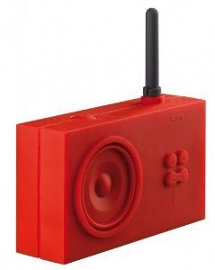 Lexon Tykho Rubber Radio Red by Lexon  http://www.60inchledtv.info/tvs-audio-video/radios/shower-radios/lexon-tykho-rubber-radio-red-com/