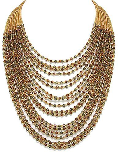 Stunning 925 Sterling Silver Crystal Glass Seed Bead Graduated Multi-Strand Women's Statement Necklace 18 inches 925e http://www.amazon.co.uk/dp/B018DA3DR0/ref=cm_sw_r_pi_dp_sbx7wb120DPM6