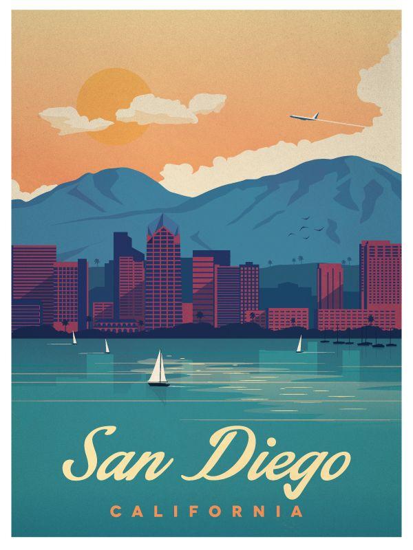 Vintage san diego poster final smaller