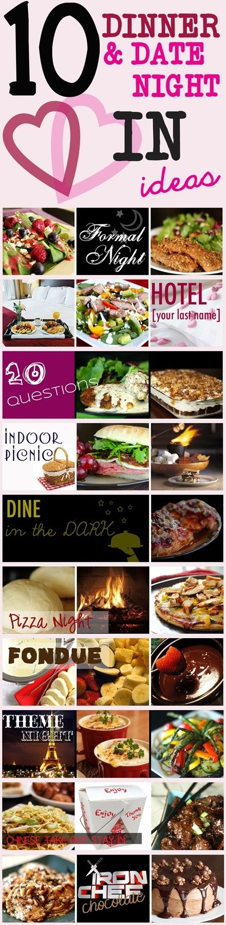 10 Fun & Romantic DATE NIGHT IN ideas!!! For those nights you just can't find a babysitter... by cassie