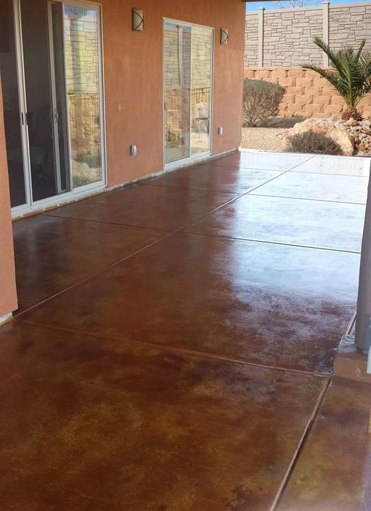 One Of A Kind Look With Acid Stain Do It Yourself Direct Colors And Concrete Sealer Deckbuildingconcretepatios
