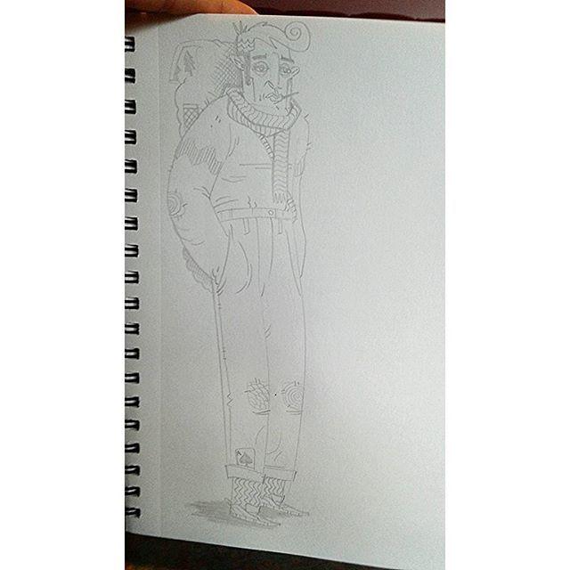 """Traveller""  #kenny_poppins #dailydoodle #pencil #drawing #sketchbook #travel #beatnik"