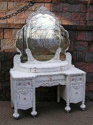 Nice Old Vanity...love the mirror!