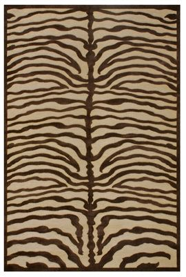 Feizy Rugs Saphir Collection Ivory Chocolate Zebra Animal Print Rug Www Crownjewel