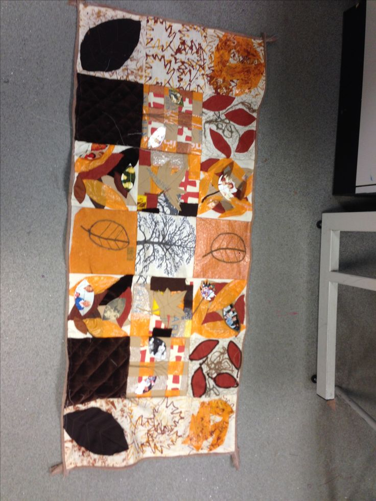 Autumnal recycled table runner