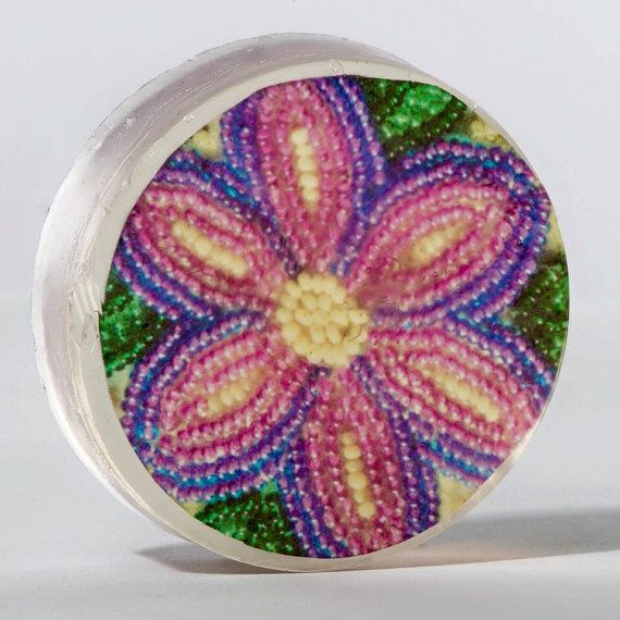 Organic Soap Featuring First Nations Beadwork: Dorothy