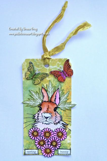 Rubber Dance's Bonny Bunny on a lovely spring tag!