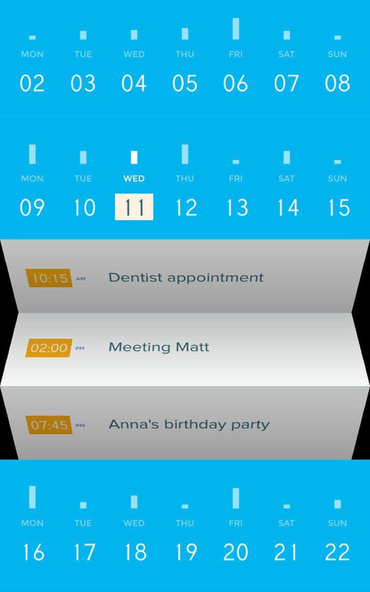 Peek Calendar by Amid Moradganjeh