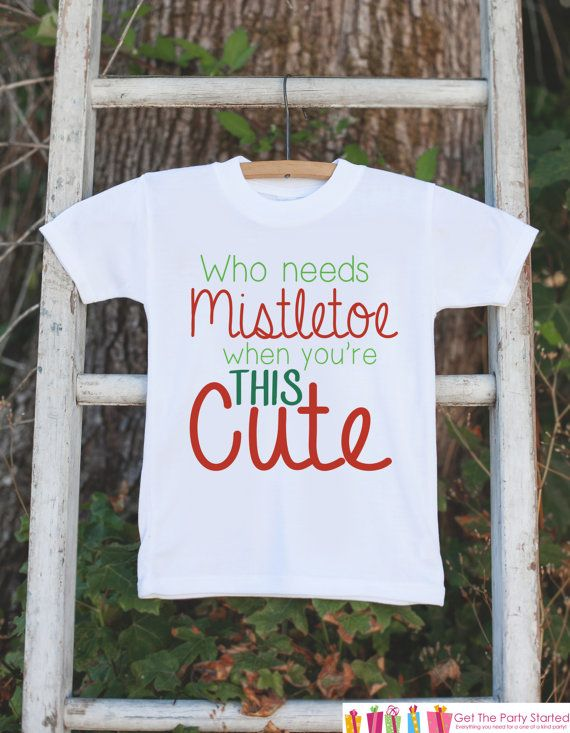 Kids Christmas Outfit Who Needs Mistletoe by getthepartystarted