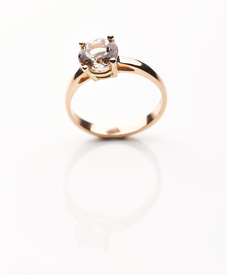Morganite stone set in a rose gold band - engagement ring. www.exclusivitybydesign.com