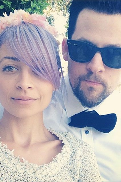 Nicole Richie and her husband Joel Madden looked ready for a school dance in this selfie posted on March 23, 2014.