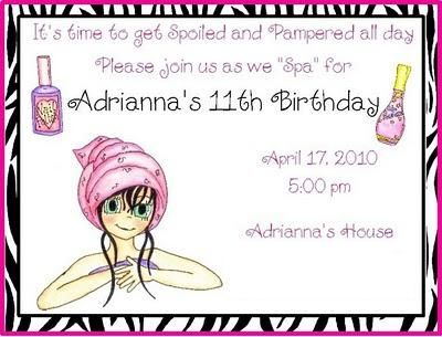 Cool FREE Template 11th Birthday Party Invitation Wording