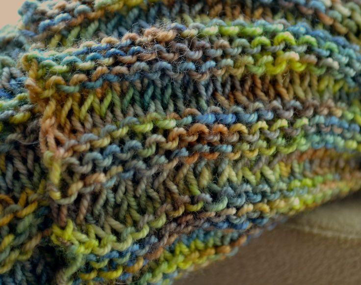 Garter Stitch Baktus detail