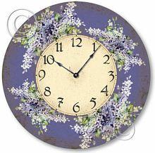 Shabby Chic Vintage Lilacs Clock