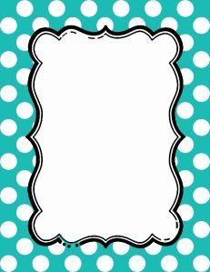 polka dot bulletin board border