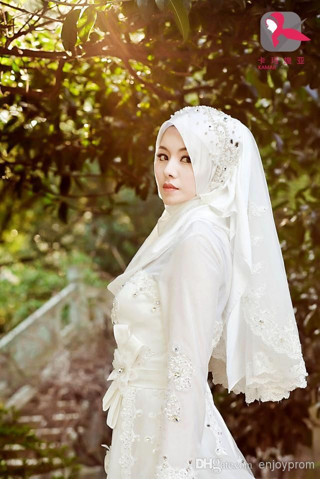 Wholesale 2015 Custom Made A-line Muslim Wedding Dresses,Luxury White Tulle Lace and Blink Crystals Vestidos De Noiva Glamorous Bridal Gowns, Free shipping, $172.14/Piece | DHgate Mobile