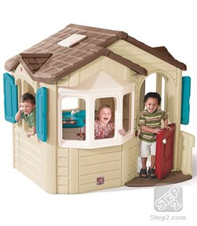 The Naturally Playful Welcome Home Playhouse is a realistic playhouse roomy enough for two or more kids to play make believe. Buy now!