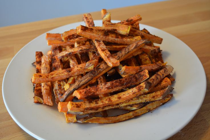 Food To Be Fit: Baked Sweet Potato Spicy-Fries