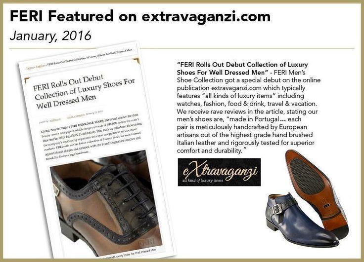 FERI footwear featured on the Extravaganzi.com