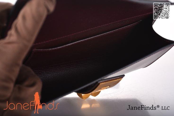 Hermes Medor Clutch Prune with Gold Hardware | eBay