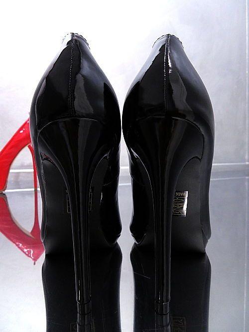 SCHWARZ HOHE PUMPS Absatz VIP Damen Schuhe NEU 2018 LACK Elegant Q99 High Heels