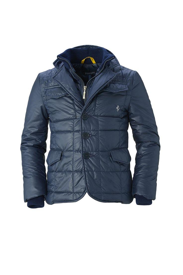 Однотонная стеганая куртка на молнии и пуговицах http://oneclub.ua/kurtka-34250.html#product_option70